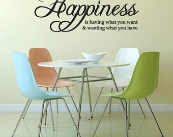 Inspirational Quote Wall Sticker - Happiness Is ... Wall Sticker