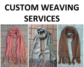 Custom weaving services - up to 600 yds of your yarn - free shipping
