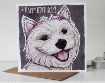West Highland Terrier (Westie) Happy Birthday Card