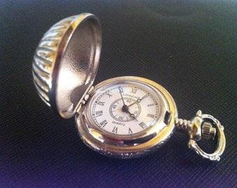 Pocket Watch-revival Pocket Watch sec. embossed metal 19
