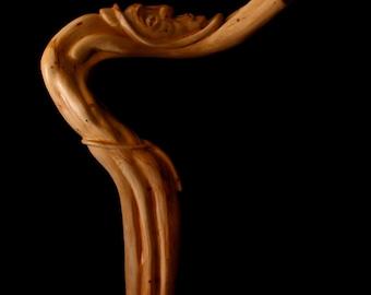 """Wood Sculpture, Hand Carved, Abstract Figure, The Beggar, """"Forsaken"""""""