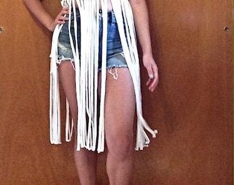 Fringe Coverup / Convertible Fringe Coverup / Fringe / Fringe Top / Fringe Maxi Skirt / Maxi Skirt / Beachwear / Beach Coverup / Coverup