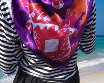 Silk scarf- digitally printed silk scarf- digital print