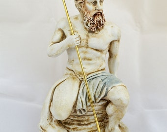 Poseidon, Neptune, Posidon God King of the sea, Earth-Shaker sculpture statue