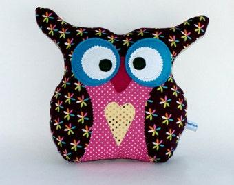 Decorative owl pillow /Owl Pillow /kids /room /decor Handmade Owl Pillow /Stuffed Toy