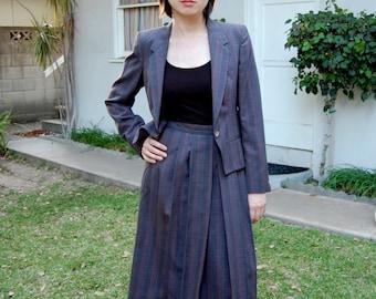 Vintage 1980s Ragalia Midi Skirt Suit
