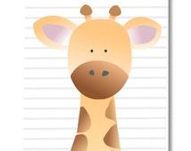 Giraffe Nursery Art. Safari, Jungle Nursery print.