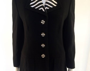 Louis Feraud Wool Jacket - 1980s