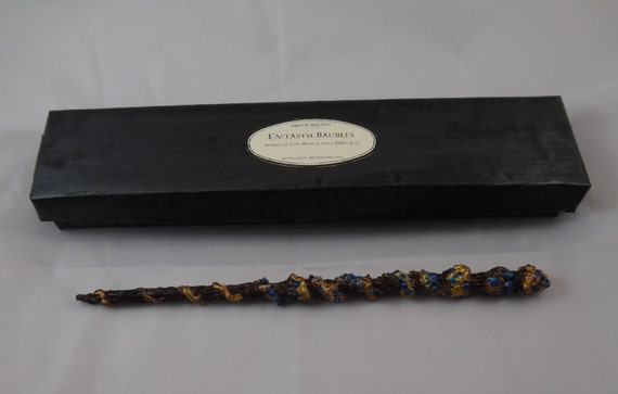 12 1 4 gnarled elm kelpie bone core wand by emtasticbaubles for Harry potter elm wand