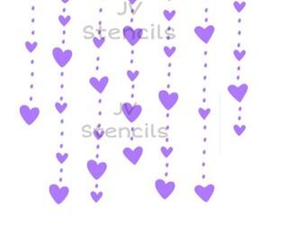 Heart Background Stencil