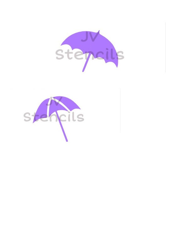 Beach Umbrella Stencil From Jvstencils On Etsy Studio