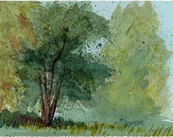 """Watercolour Landscape Print 4x6"""""""