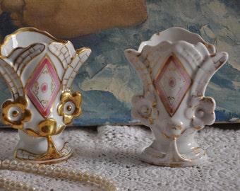 French Wedding Vases, Antique White Vase, Antique Flower Vase,Wedding Decor,French Country Decor,French Decor,Dressing Table, Made in France