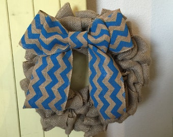 Burlap Bubble Wreath with Bow