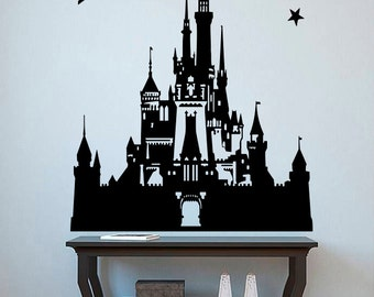 Princess Castle Wall Sticker Disney Decals Fairytale Wall Decor Girlu0027s Room  Stencils Art Interior Design ( Part 70