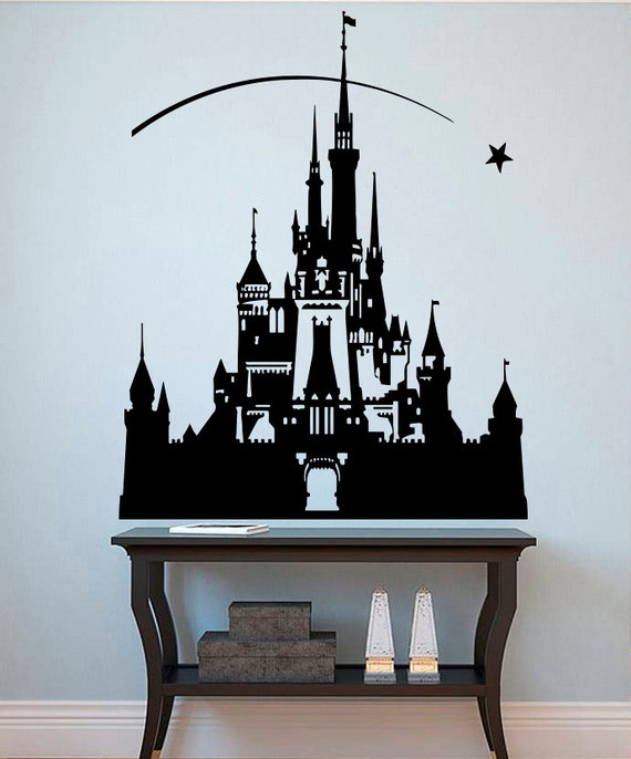 Princess castle wall sticker disney decals fairytale wall for Castle wall mural sticker