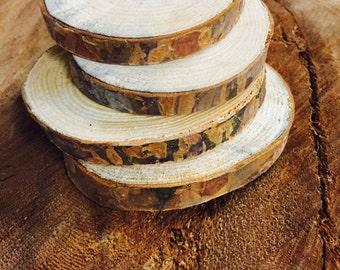 Solid wood Coasters - Set of 4