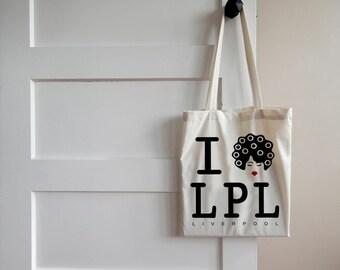 I Love Liverpool canvas tote bag/shopper