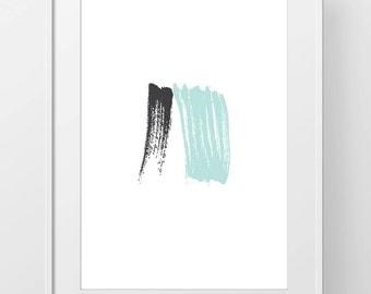 Sale 50% off Abstract Brush Sroke Art Print, Digital Brush Stroke Printable art