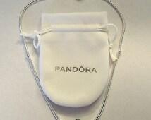 European 925 SilverPlated Necklace/ FREE Purse Charm/FREE Pandora Bracelet Pouch