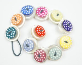 Spotty & Pearl Button Bracelet
