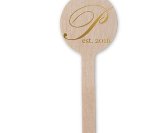 Monogram Personalized Drink Stir Sticks