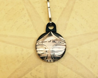 "Golden Snitch  ""I Open at the Close"" Zipper Pull (Harry Potter)"