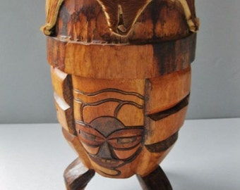 Authentic Traditional Zulu drum from South Africa, Tribal markings, African Tribal Art, African Instruments, Handcarved drum.