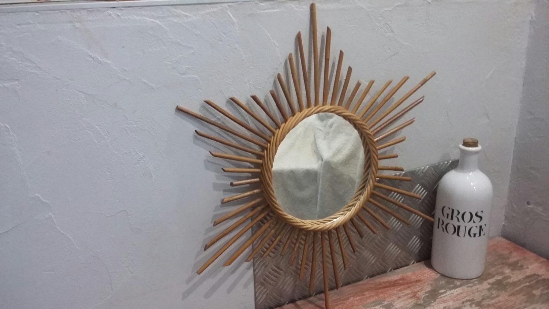 Miroir soleil vintage oeil de sorci re sunburst r tro shabby for Miroir soleil oeil sorciere
