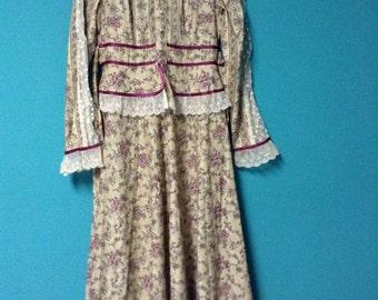 Gunne Sax Maxi Dress from 1978