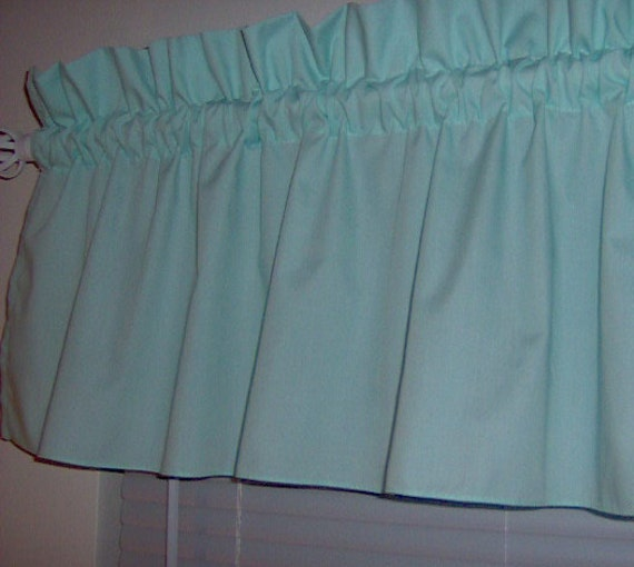 Solid mint green valance curtain window by prettythreads22 on etsy - Mint green kitchen curtains ...