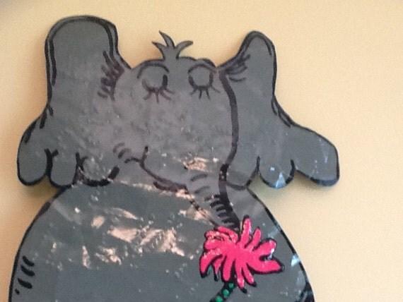 Metal Elephant Wall Decor : Horton the elephant metal wall art by whimsicalmetal on etsy