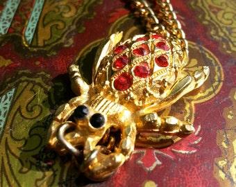 Jeweled Beetle Necklace