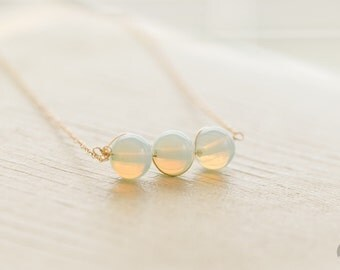 Opalite Bar Necklace – Gemstone Necklace –Birthstone Necklace – Gold Filled Necklace – Gift for Her