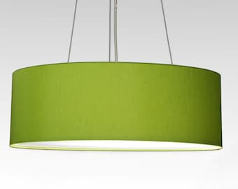 pendent lamp D.60 cm, H.15 cm, Lampshade with individual colour