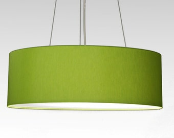 pendent lamp D.50 cm, H.15 cm, Lampshade with individual colour