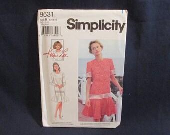 Simplicity 9631 Flared Dress Kathie Lee pattern Uncut Size 8 10 12