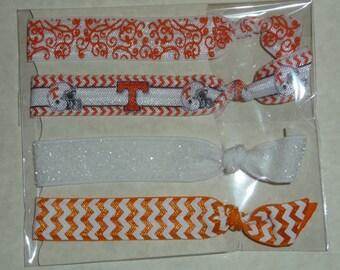 University of Tennessee Fold Over Elastic Hair Ties/ Headbands