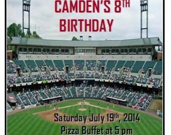 Baseball Stadium Fully Customizable Birthday Invitation