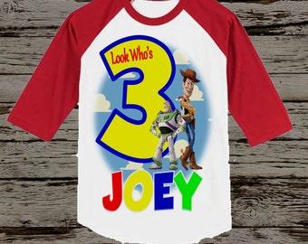 Toy Story Birthday Shirt - Baseball style Shirt Available