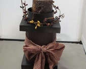 Candle Block, wood crafts, primitive crafts, handmade country crafts, grungy candles