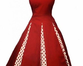 Elizabeth Stone, 'Roseta' Full Circle Rockabilly Swing Pin Up Plus Size Party Dress