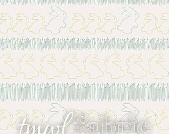 Woven Fabric - Littlest Bunny Hop Ginger - Half Yard +