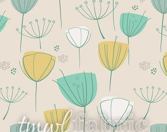 Woven Fabric - Littlest Floral Frolic Coco - Half Yard +