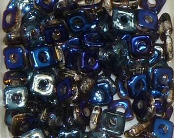 Quad Beads - #7 Crystal Azuro- 4mm 5 grams