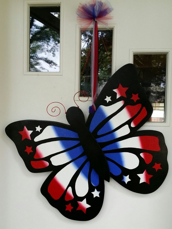 Giant 4th Of July Butterfly 3d Door Hang