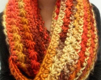 Crochet Star Stitch Infinity Scarf / Infinity Scarf / Chunky Scarf