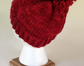 Red Merino Wool Hat