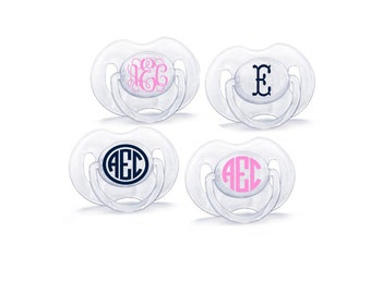 Monogram Pacifier DECAL set (Pacifiers Not Included!)