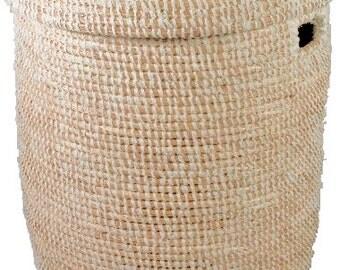 White wrap Laundry Basket - large